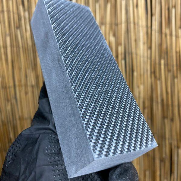 """Silver Carbon Fiber Block - 5.1 x 1.75 x 1.17"""""""