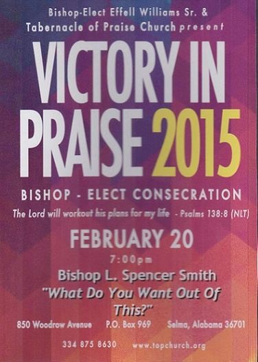 "Victory In Praise Conference 2015 DVD - Bishop L. Spencer Smith - ""What Do You Want Out Of This?"""