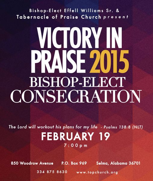 Victory In Praise Conference 2015 DVD - Bishop Elect Consecration for Pastor Effell Williams, Sr.