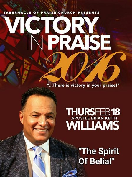 "Victory In Praise Conference 2016 DVD, Apostle Brian Keith Williams, ""The Spirit of Belial"""