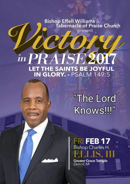 """Victory In Praise Conference 2017 DVD, Bishop Charles Ellis, - """"The Lord Knows"""""""