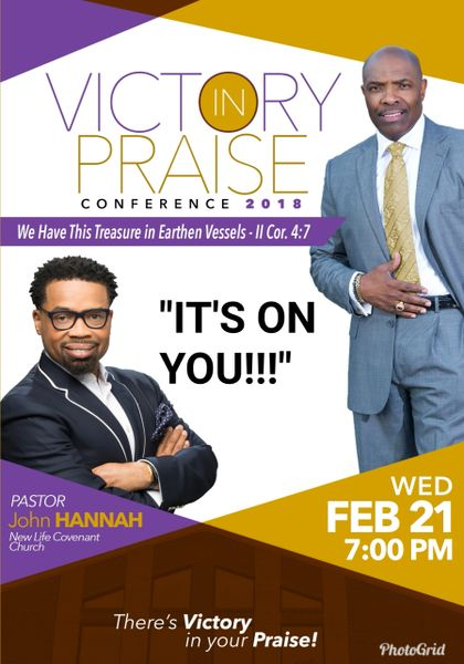 """Victory In Praise Conference 2018 CD, Pastor John Hannah, - """"It's On You"""""""