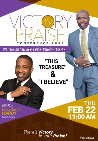 """Victory In Praise Conference 2018 CD, Bishop Fredderick Hardy, - """"This Treasure & I Believe"""""""