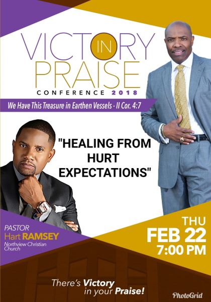 """Victory In Praise Conference 2018 CD, Pastor Hart Ramsey, - """"Healing From Hurt Expectations"""""""