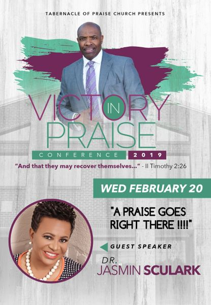 """Victory In Praise Conference 2019 CD - Dr. Jasmin Sculark - """"A Praise Goes Right There!"""""""