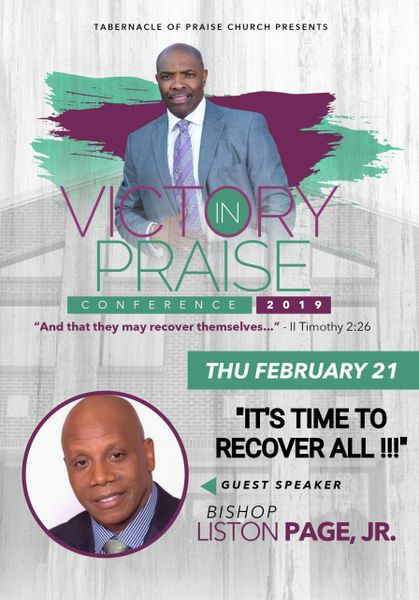 "Victory In Praise Conference 2019 DVD - Bishop Liston Page - ""It's Time To Recover All"""