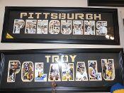 Pittsburgh Penguins Word Frame