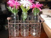 3 Jar Wire Planter