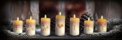 LED Family Candles Canvas