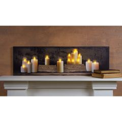 LED Mantel OF 15 Candles Canvas