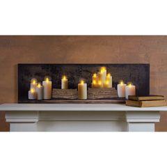 LED Candles Mantel Canvas