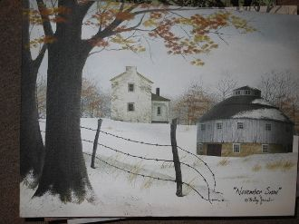 November Snow Canvas