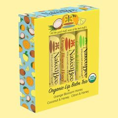 Naked Bee Organic Lip Balm Trio