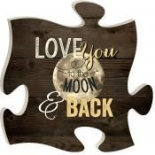 """""""Love You To The Moon"""" Puzzle Piece"""
