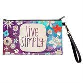 Live Simply Zippered Bag