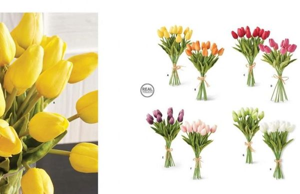 "13.5"" Various Color Real Touch Tulip"