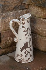 White Birds & Branches Pitcher