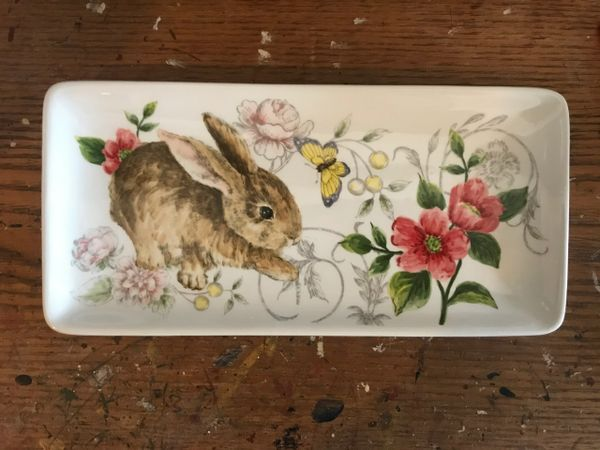 Bunny/Butterfly Tectangle Plate
