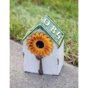 Vintage License Sunflower Birdhouse