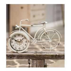 Farmhouse White Bicycle Clock