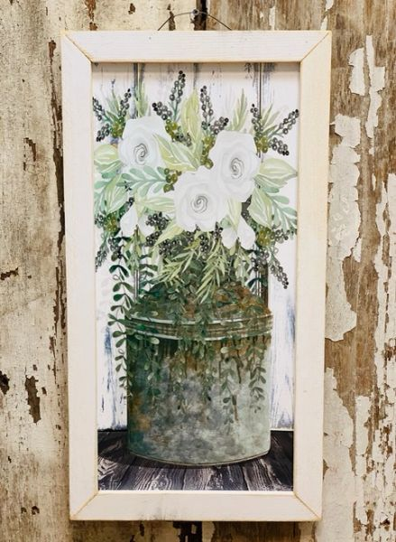 Whiskey Whites Flower Frame