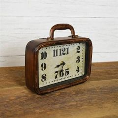Vintage Inspired Suitcase Tabletop Clock
