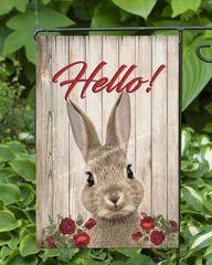 Hello Bunny Garden Flag