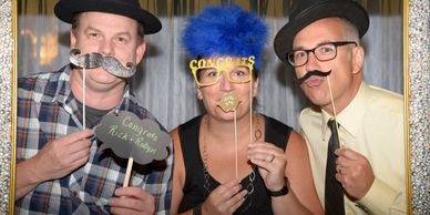 Wedding Photography reception photo booth