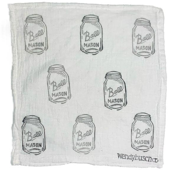 Mason jar- washcloth