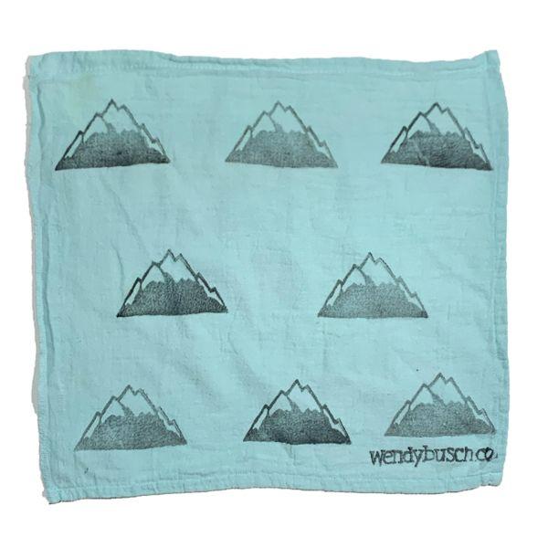 Mountain range- washcloth