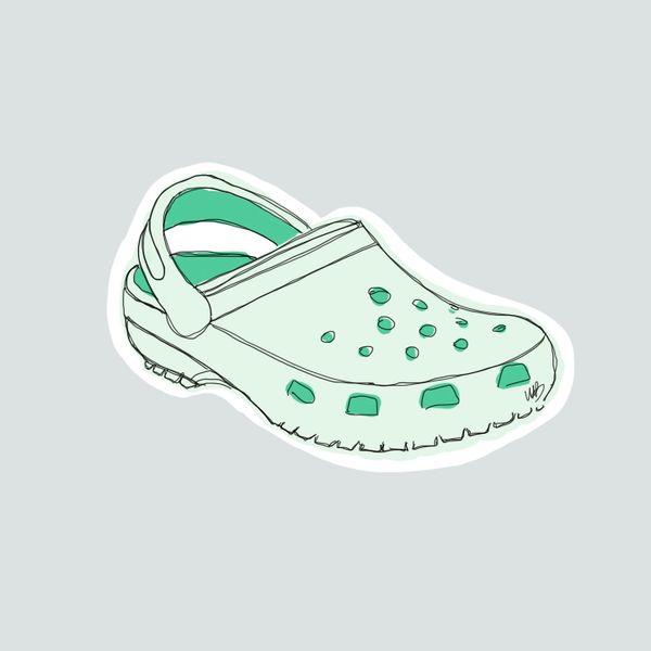 Crocs- mint