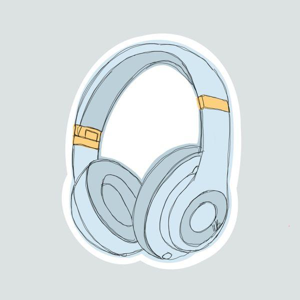 Headphones- blue