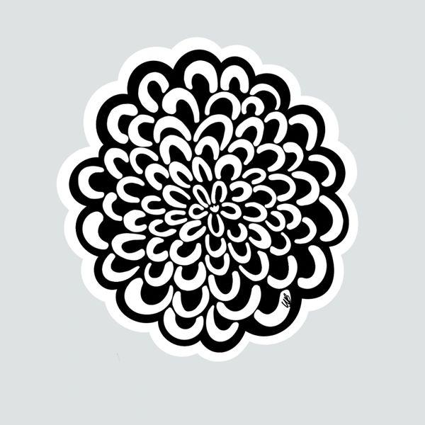 Floral Design- B/W