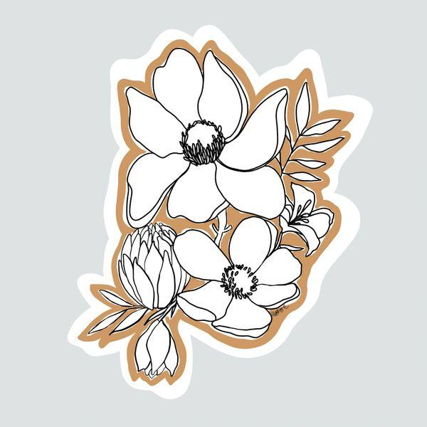 beige and white flower