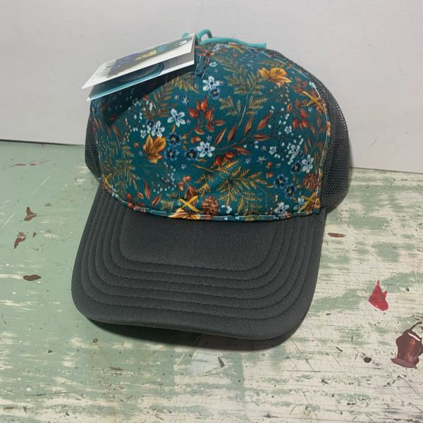 Turquoise floral- charcoal (l/xl)