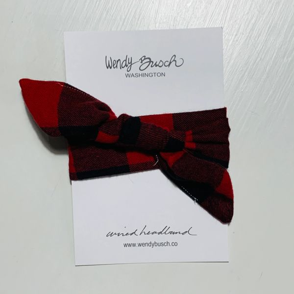 Buffalo plaid- black and red- flannel