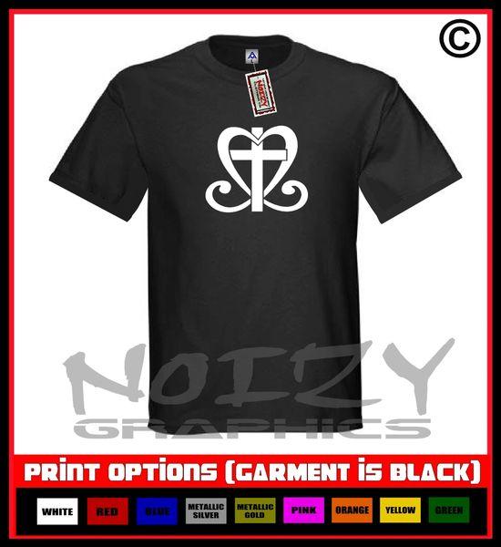 Cross Heart T-Shirt S-5XL