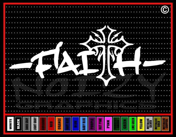 Faith Cross #1 Vinyl Decal / Sticker