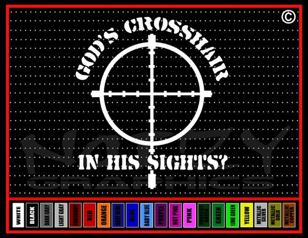 God's Crosshair / In his sights? Vinyl Decal / Sticker