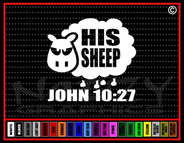 His Sheep #1 John 10:27 Vinyl Decal / Sticker