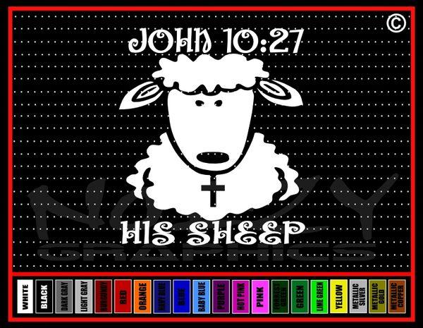 His Sheep #2 John 10:27 Vinyl Decal / Sticker
