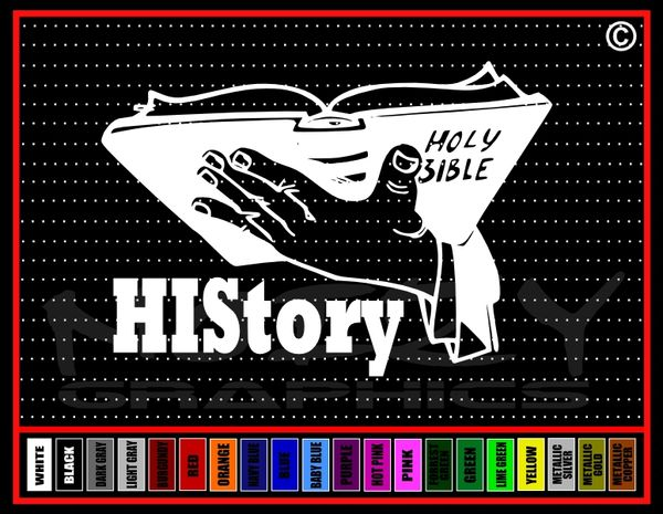 HIStory (His Story) Bible Vinyl Decal / Sticker