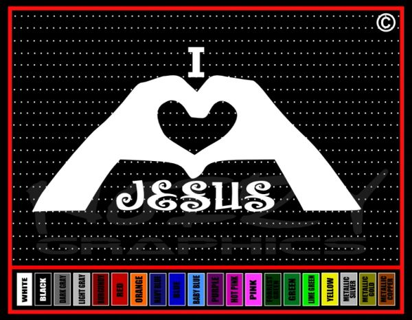 I Love Jesus #1 Vinyl Decal / Sticker