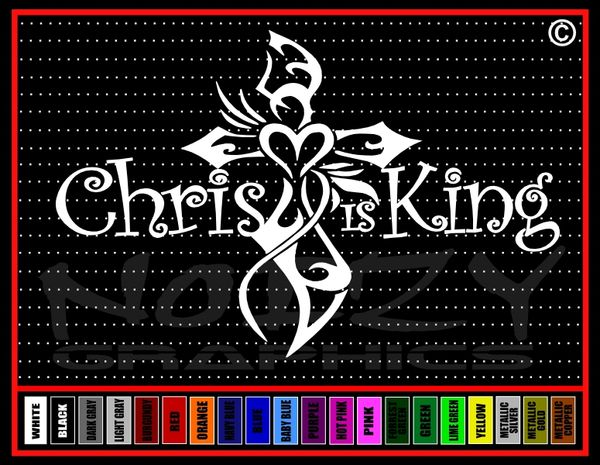 Christ is King Vinyl Decal / Sticker