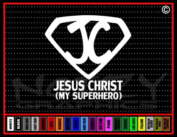 Jesus Christ Superhero Vinyl Decal / Sticker