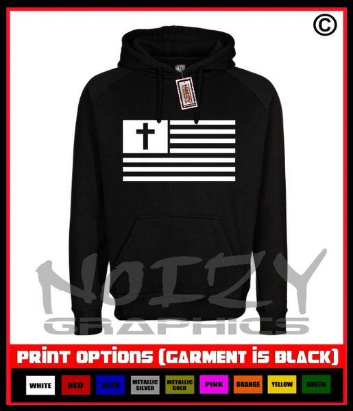 American Flag Cross Hoodie