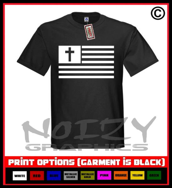 American Flag Cross T-Shirt S-5XL