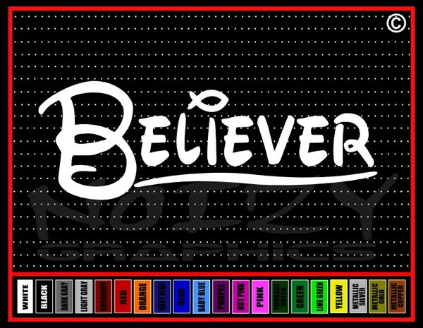 Believer Fish Vinyl Decal / Sticker