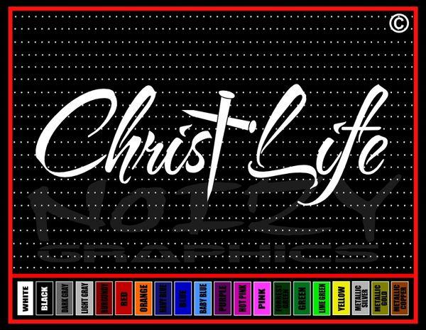 Christ Life Cross Nails Vinyl Decal / Sticker