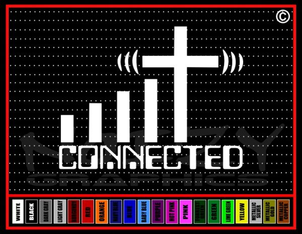 Connected Cross Vinyl Decal / Sticker